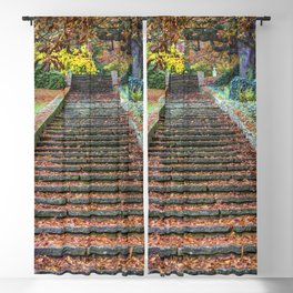 Autumnal Stairs Blackout Curtain
