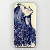 portrait iPhone & iPod Skins featuring Bloom by KatePowellArt