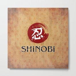 Shinobi Gamer Metal Print