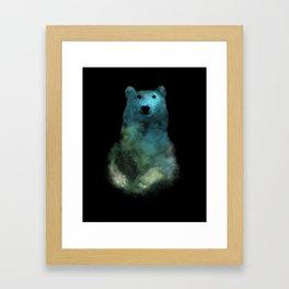 Nebula Bear Framed Art Print