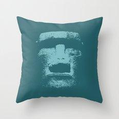 Maoi Head Throw Pillow