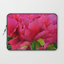 Dark Pink Tree Peony by Teresa Thompson Laptop Sleeve