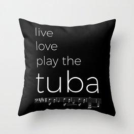 Live, love, play the tuba (dark colors) Throw Pillow