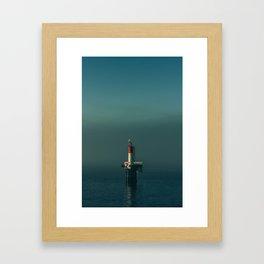 Northwest Channel Marker Framed Art Print