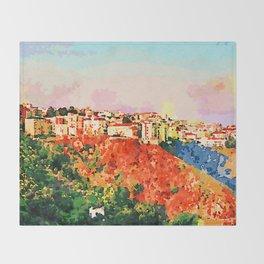 Catanzaro: view of the city Throw Blanket