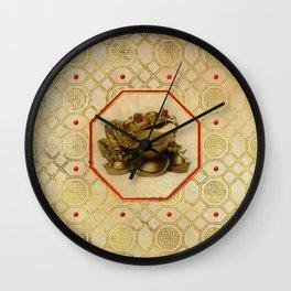 Three Legged Lucky Money Frog /Toad Feng-shui Wall Clock
