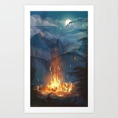 Fire Trail Art Print