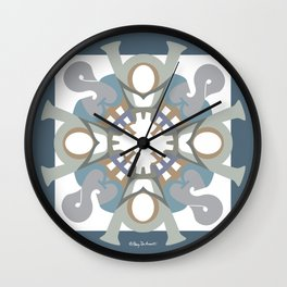 Home Sweet Home Mandala - Blue Gray Wall Clock