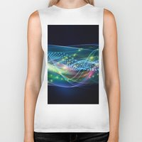 data Biker Tanks featuring Data Transmission by Tom Lee