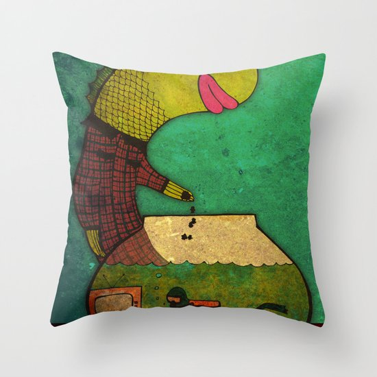 one lost soul Throw Pillow