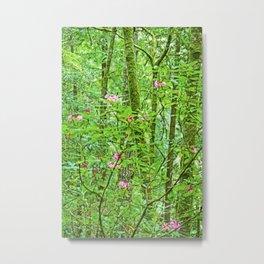 Rhodies in Green Metal Print