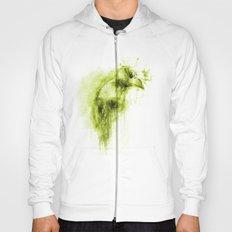 Splatter Bird Green Hoody