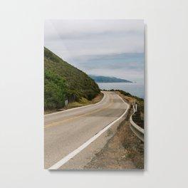 Big Sur Highway 1 Wall Art | California Nature Mountains Ocean Beach Coastal Travel Photography Print Metal Print