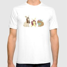 Hares In Wigs MEDIUM White Mens Fitted Tee