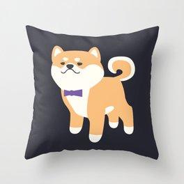 Formal Shiba Inu Throw Pillow