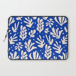 matisse pattern with leaves in blu Laptop Sleeve