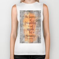 friendship Biker Tanks featuring Friendship by LebensART