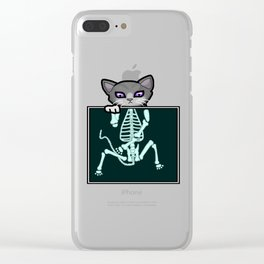X-ray Cat Clear iPhone Case
