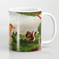 bambi Mugs featuring Bambi by Jadie Miller
