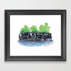 Water Living in Amsterdam by Charlotte Vallance Framed Art Print