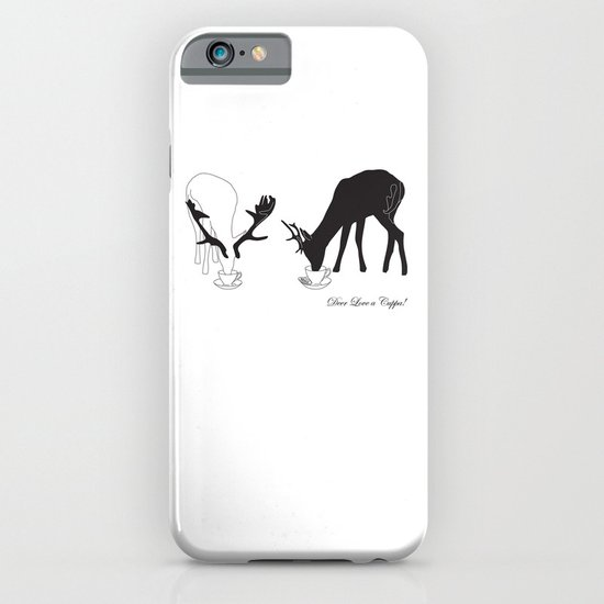 Deer love a Cuppa! Deer products, woodland illustration, animal lovers, deer gifts, iPhone & iPod Case