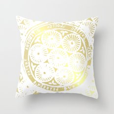 power of one: white gold Throw Pillow