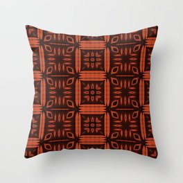 Rusty Squares Throw Pillow