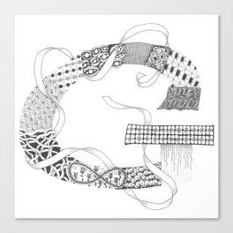 """Zenletter """"G"""" Canvas Print"""