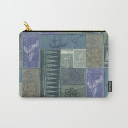 Samoan Tribal Tapa Collage Carry-All Pouch
