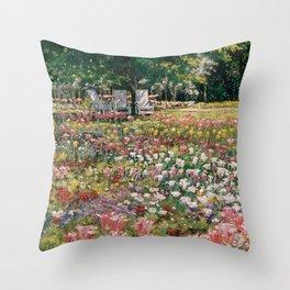 Favorite Spot — Garden Painting Throw Pillow