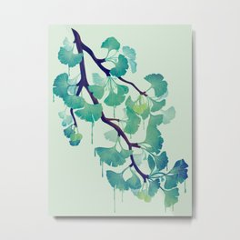 O Ginkgo (in Green) Metal Print