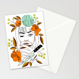 Toxic Masculinity Ruins the Party Again Stationery Cards