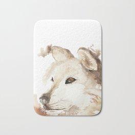Wolf in the Mist Bath Mat