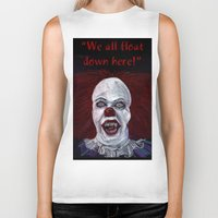 pennywise Biker Tanks featuring Pennywise by Eric Dockery