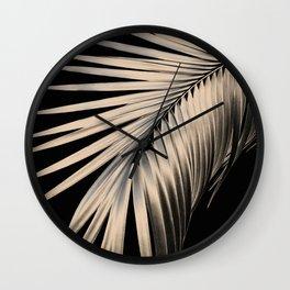 Palm Leaf Dream #1 #tropical #decor #art #society6 Wall Clock