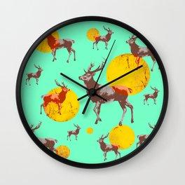 dear deers - christmas Wall Clock