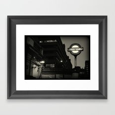 London Temple Undergroung Station Framed Art Print