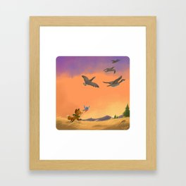 Fox and Boots - Migration Framed Art Print