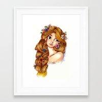 rapunzel Framed Art Prints featuring Rapunzel by MissKerrieJ