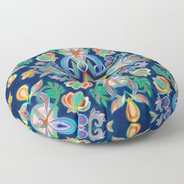 Boho Navy and Brights Floor Pillow