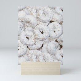Mini Powdered Sugar Donuts Photo Pattern Mini Art Print