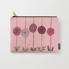 Garden Flowers Illustration - in Pinks Carry-All Pouch