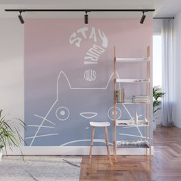 Stay Curious | Serenity & Rose Quartz Wall Mural