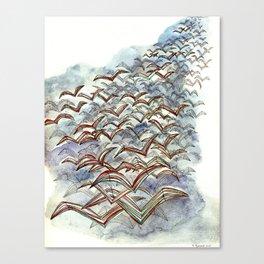 The Flock. Canvas Print