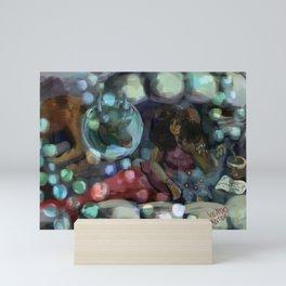 mermaid zodiac: taurus Mini Art Print