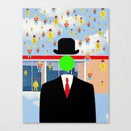Magritte illustration Canvas Print