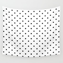 Dotted (Black & White Pattern) Wall Tapestry
