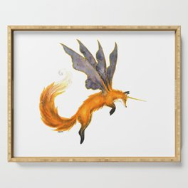 Watercolor Fairy Fox Serving Tray