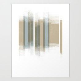 Neutral Retro Style Geometric Abstract - Codex Art Print