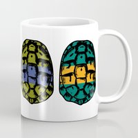 ninja turtles Mugs featuring ninja shells by tama-durden